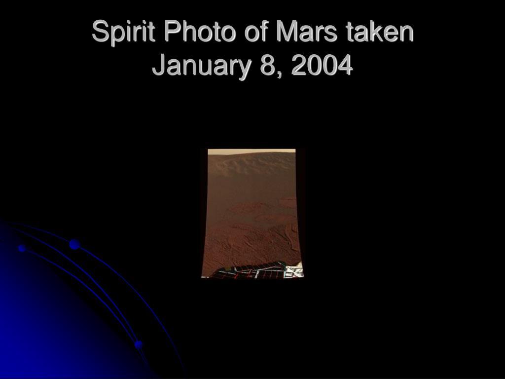 Spirit Photo of Mars taken