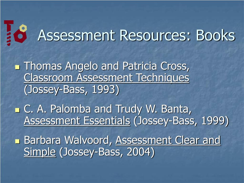 Assessment Resources: Books