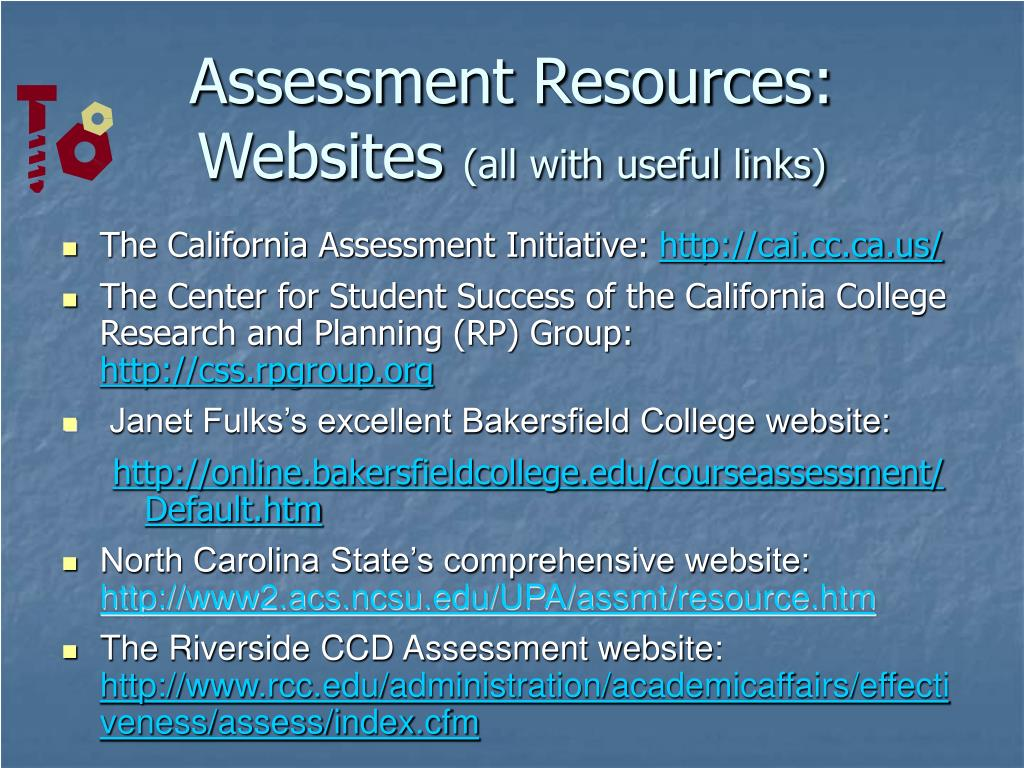 Assessment Resources: Websites