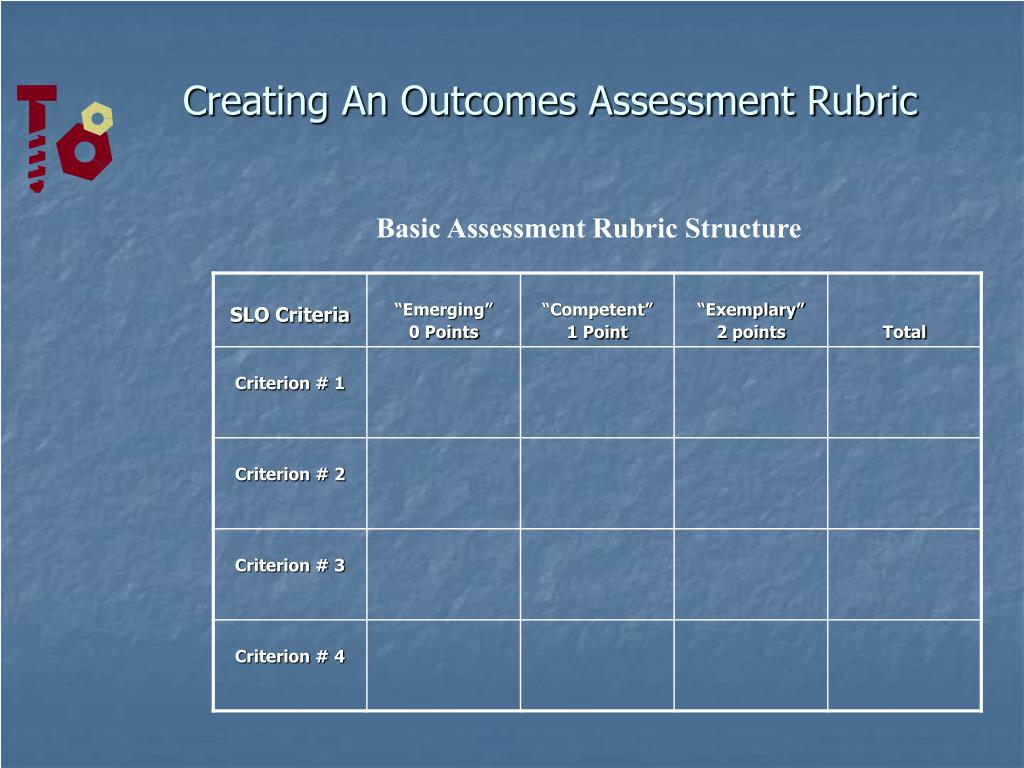 Creating An Outcomes Assessment Rubric