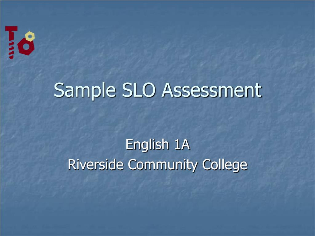 Sample SLO Assessment
