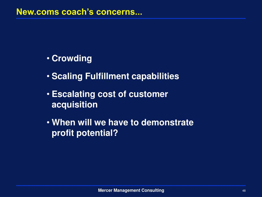 New.coms coach's concerns...