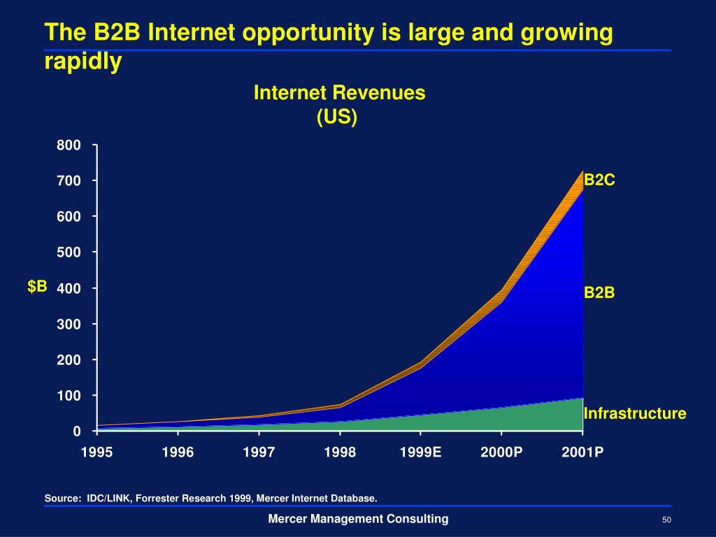 The B2B Internet opportunity is large and growing rapidly