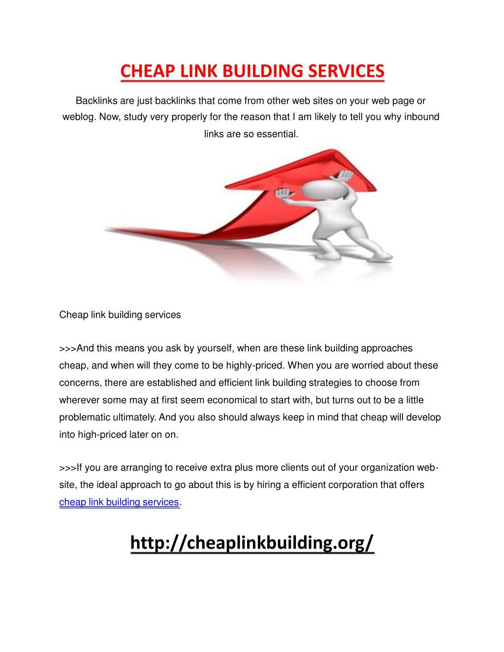 CHEAP LINK BUILDING SERVICES