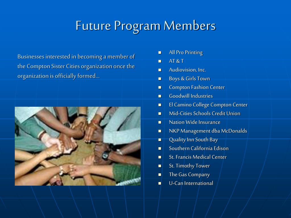 Future Program Members