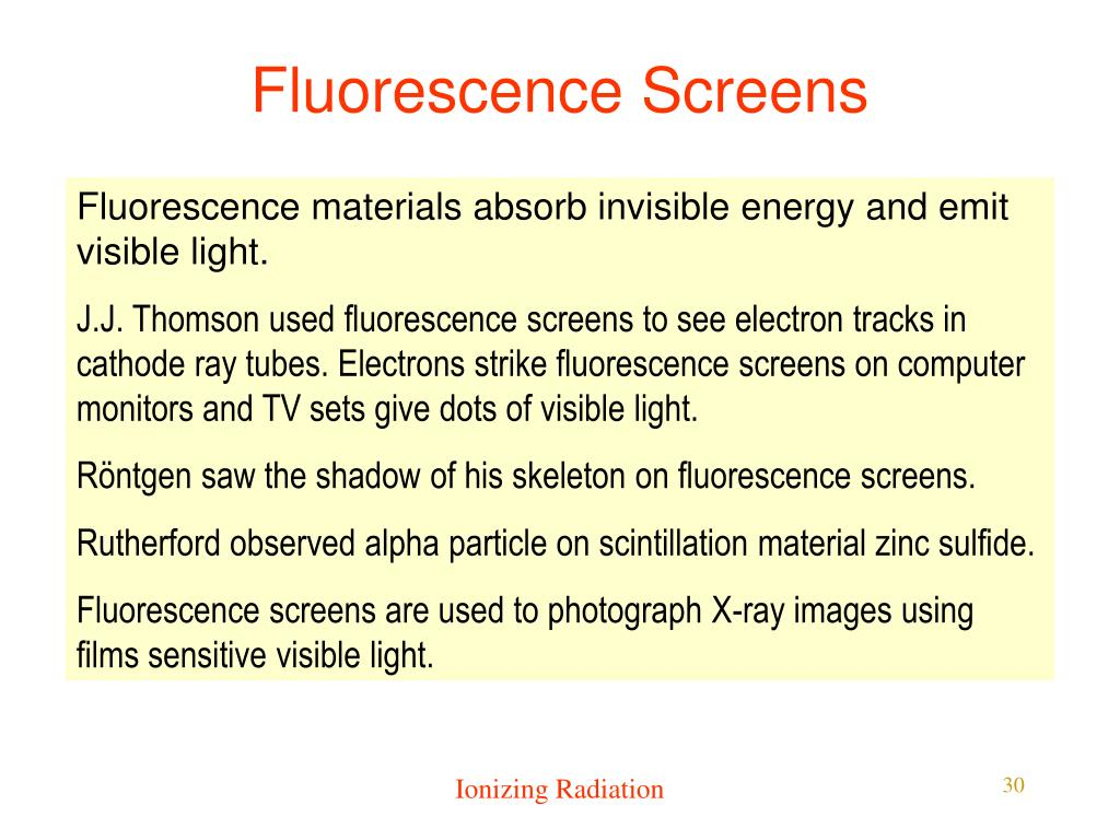 Fluorescence Screens