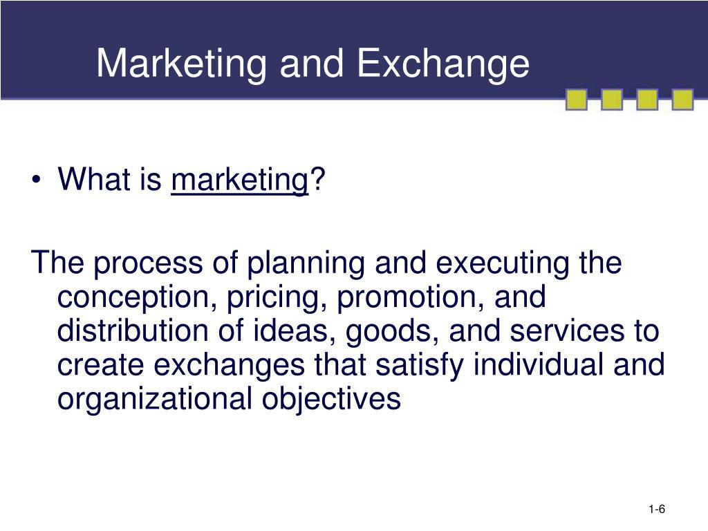 Marketing and Exchange