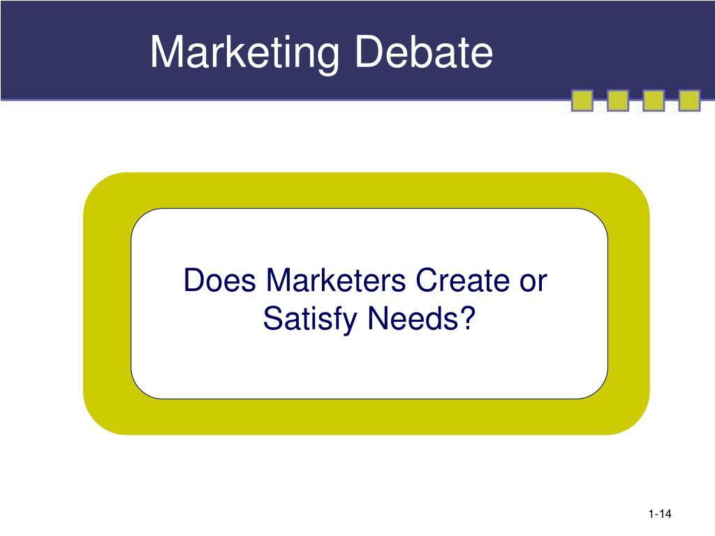Marketing Debate