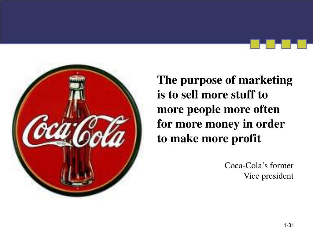 The purpose of marketing