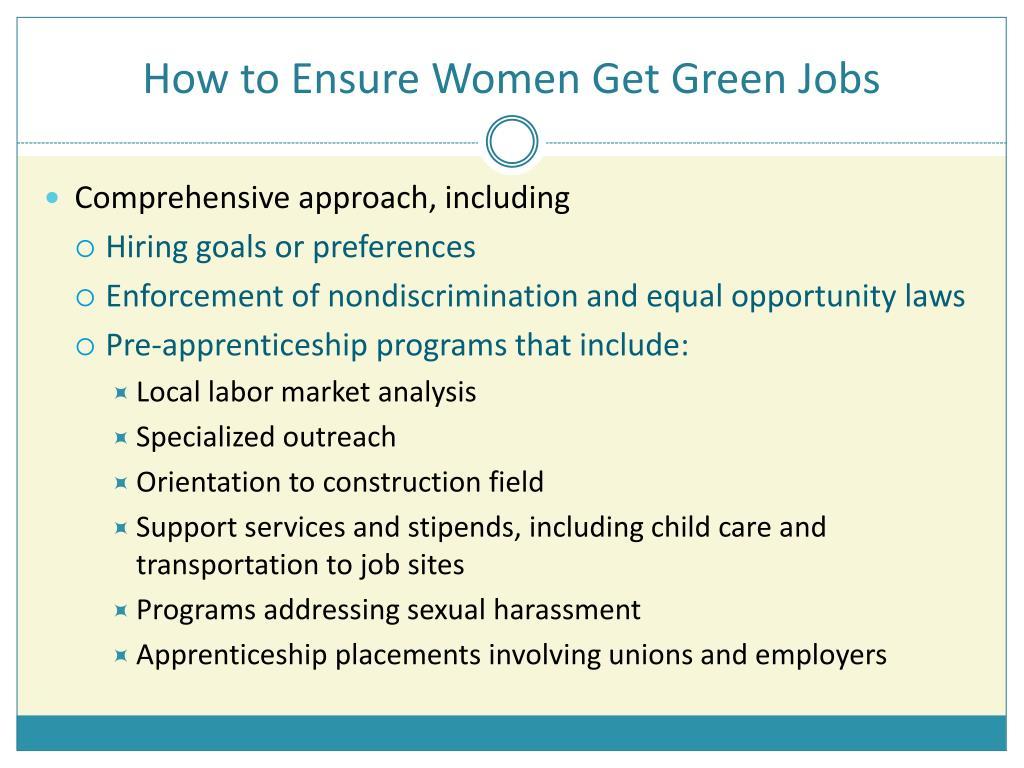 How to Ensure Women Get Green Jobs