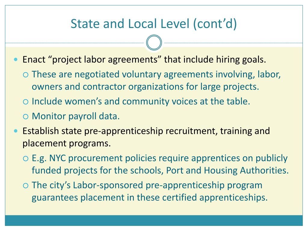 State and Local Level (cont'd)