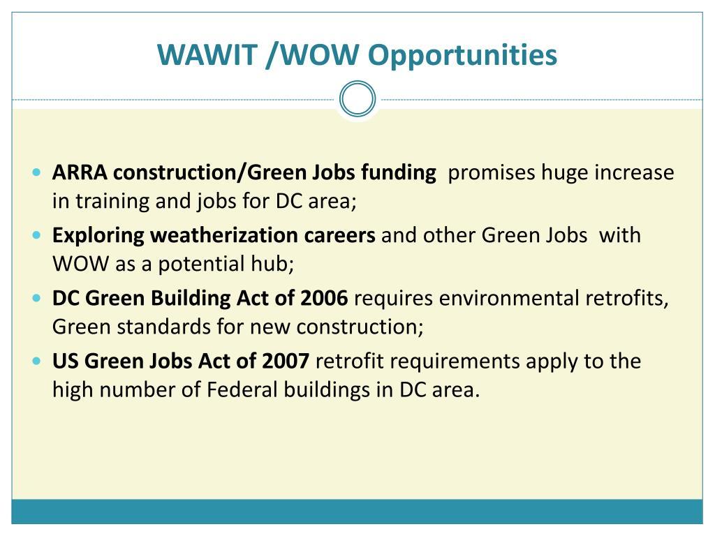 WAWIT /WOW Opportunities