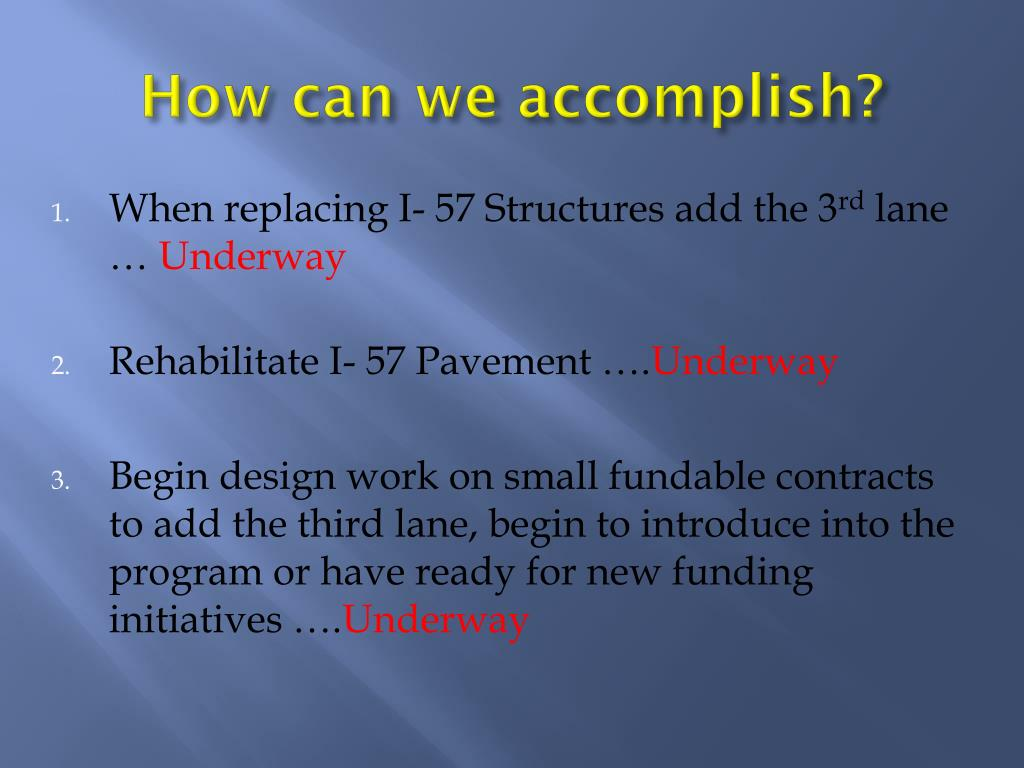 How can we accomplish?