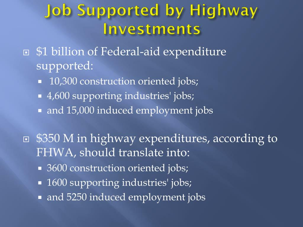 Job Supported by Highway Investments