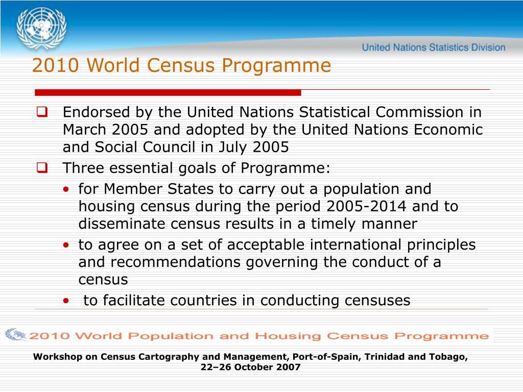2010 World Census Programme
