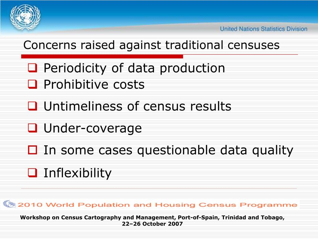 Concerns raised against traditional censuses