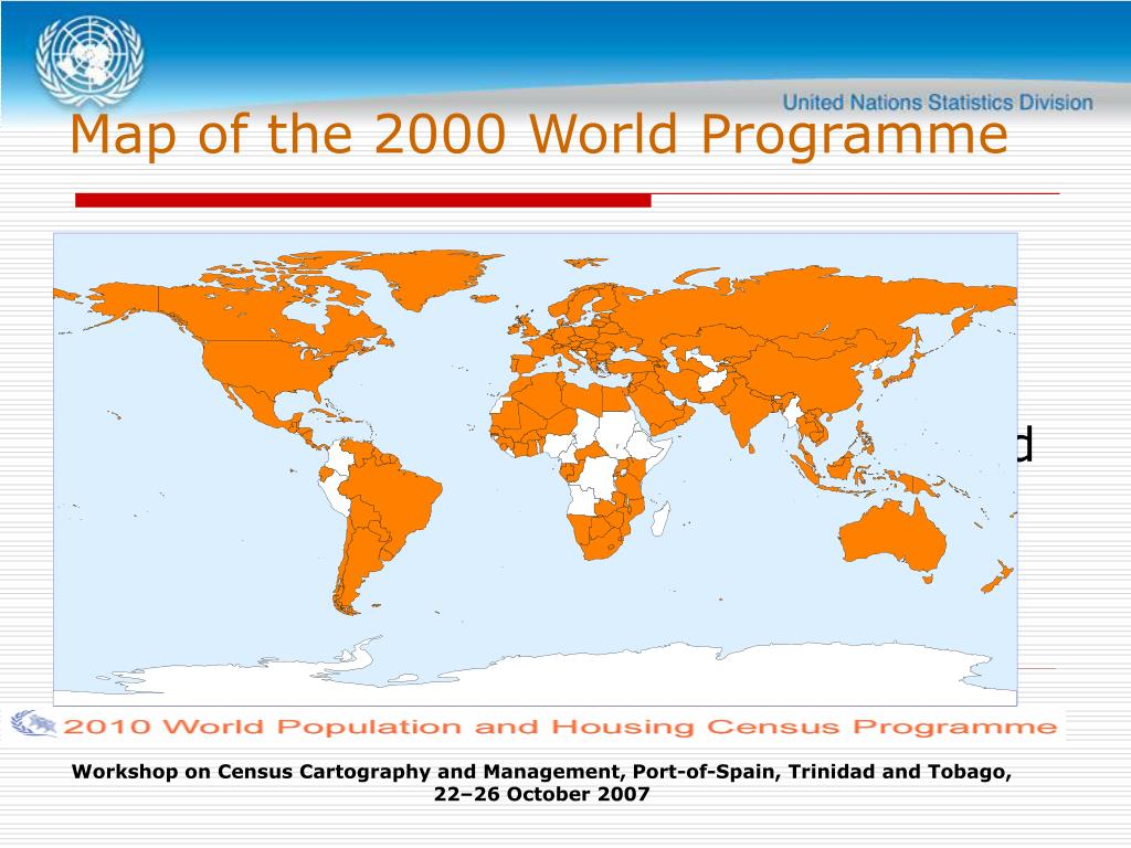 Map of the 2000 World Programme