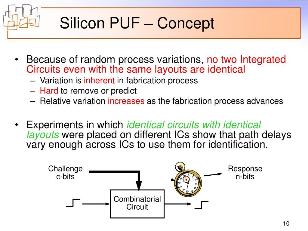 Silicon PUF – Concept