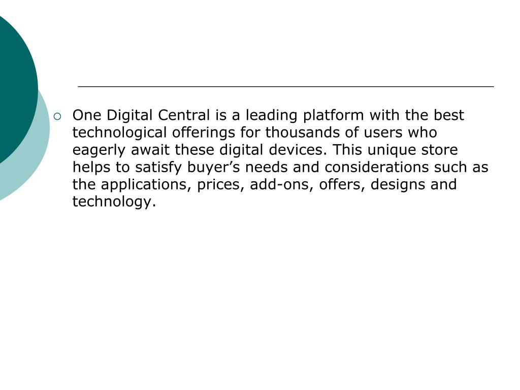One Digital Central is a leading platform with the best technological offerings for thousands of users who eagerly await these digital devices. This unique store helps to satisfy buyer's needs and considerations such as the applications, prices, add-ons, offers, designs and technology.