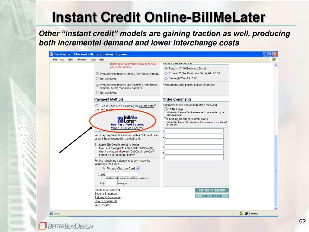 Instant Credit Online-BillMeLater