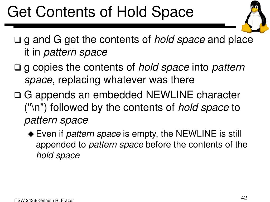 Get Contents of Hold Space