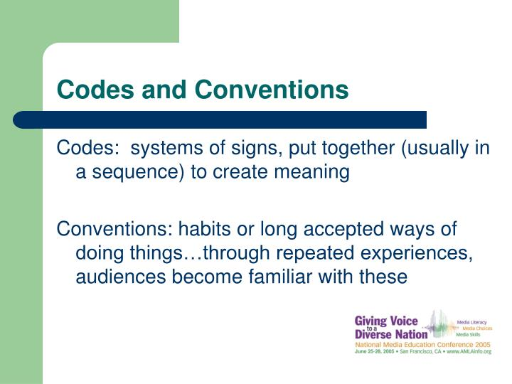 Codes and conventions l.jpg