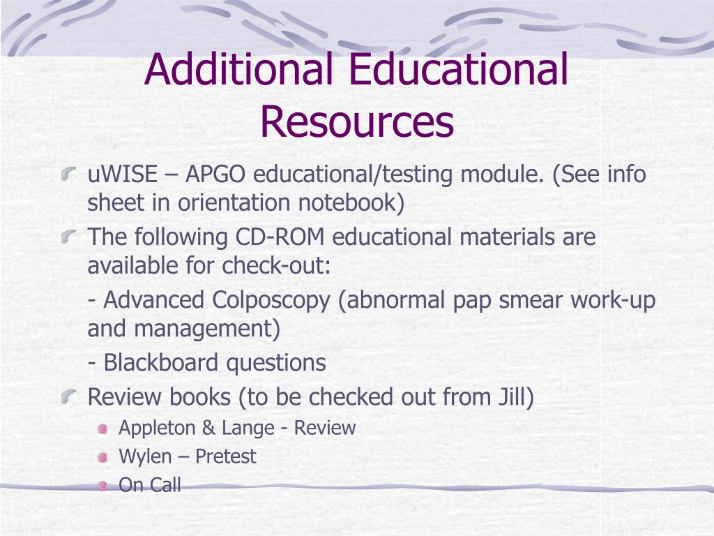 Additional Educational Resources
