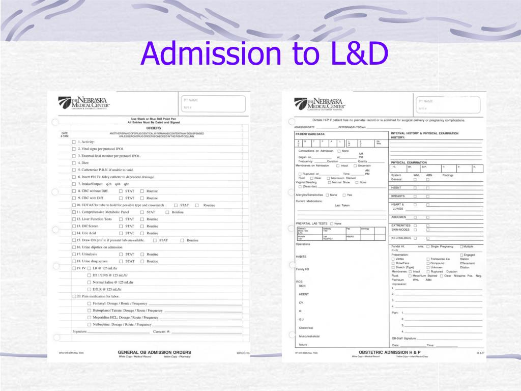 Admission to L&D