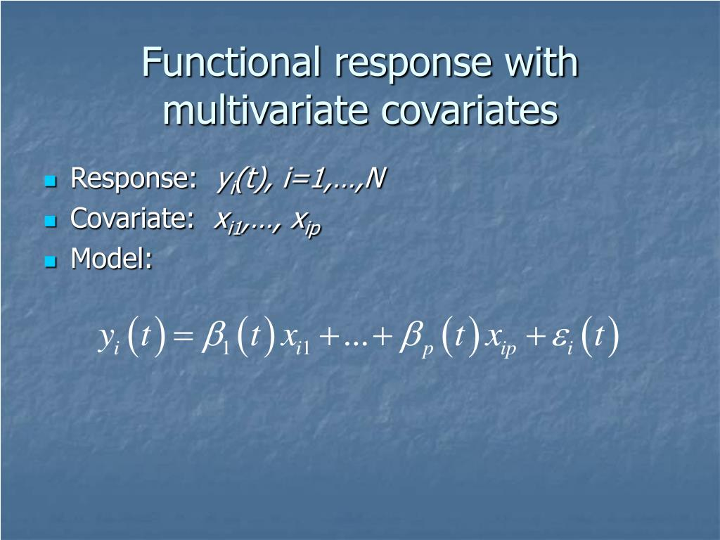 Functional response with multivariate covariates