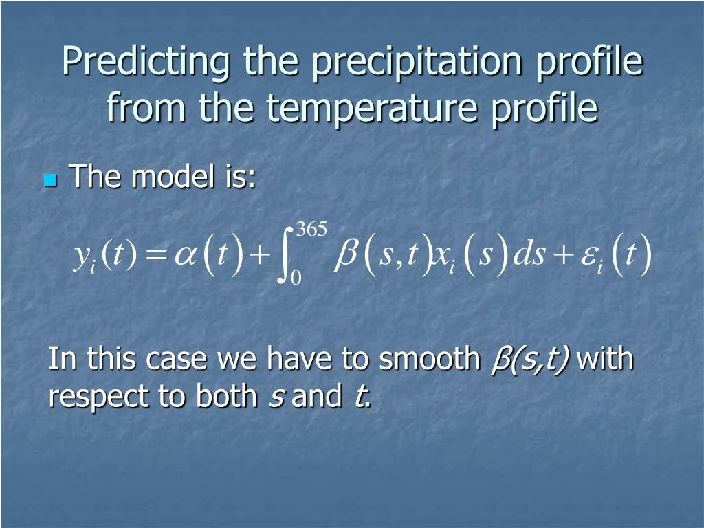 Predicting the precipitation profile from the temperature profile
