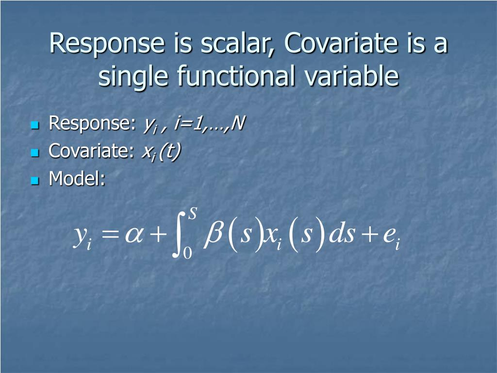 Response is scalar, Covariate is a single functional variable