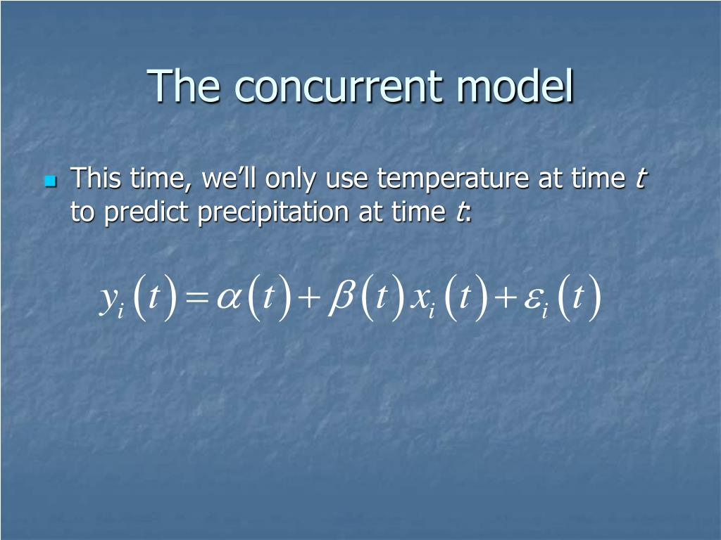 The concurrent model