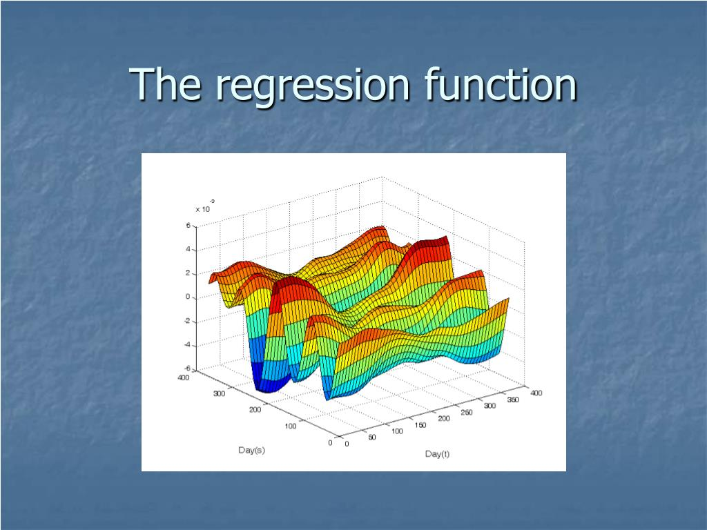 The regression function