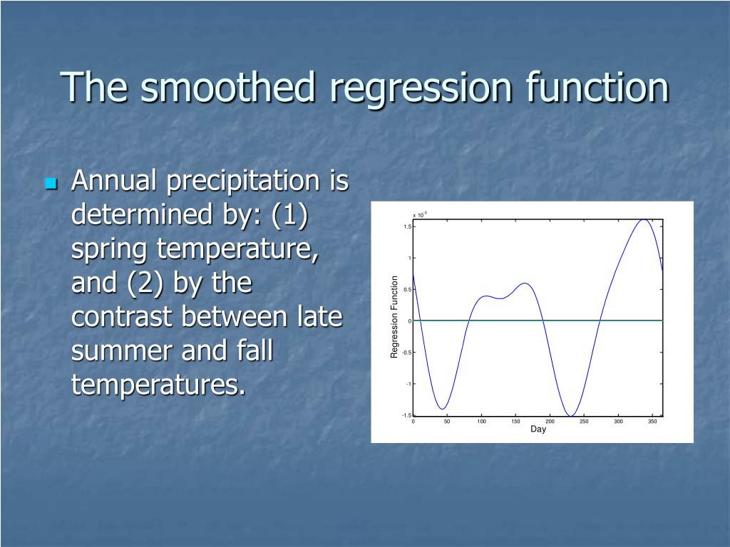 The smoothed regression function
