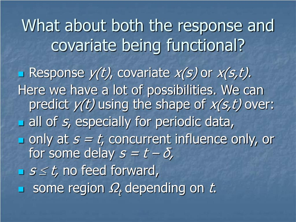 What about both the response and covariate being functional?