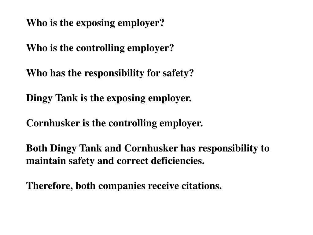 Who is the exposing employer?