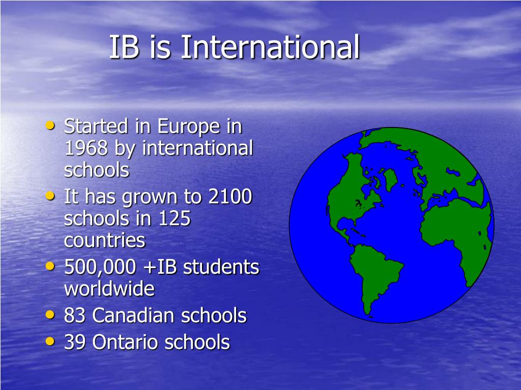IB is International