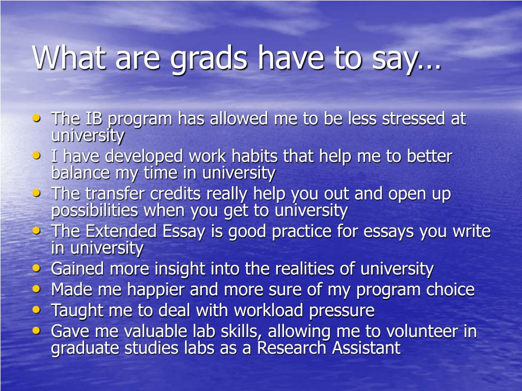 What are grads have to say…
