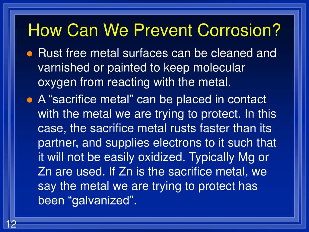How Can We Prevent Corrosion?