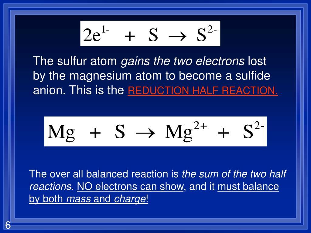 The sulfur atom