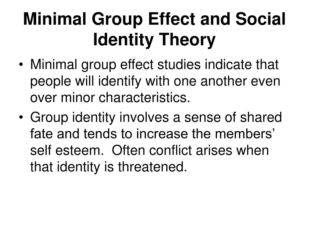 Minimal Group Effect and Social Identity Theory