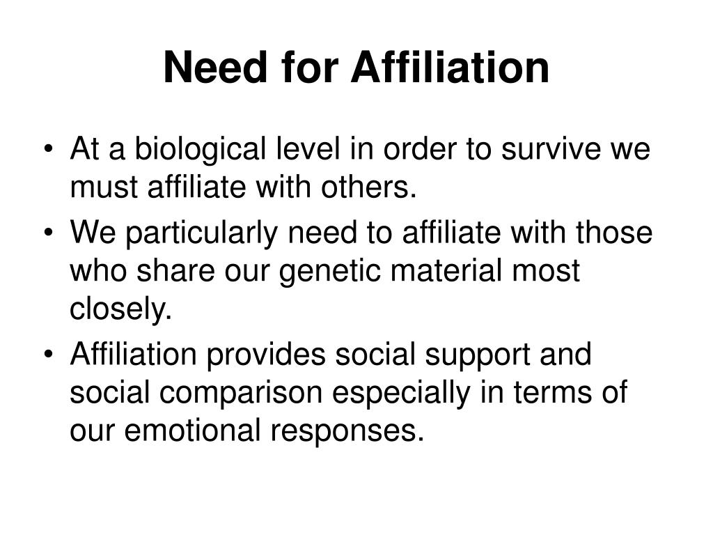 Need for Affiliation