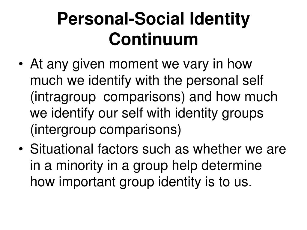 Personal-Social Identity Continuum