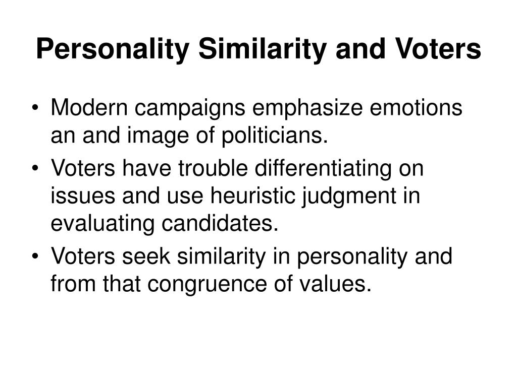 Personality Similarity and Voters