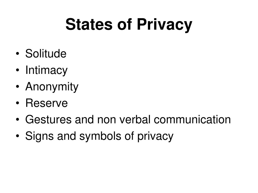 States of Privacy
