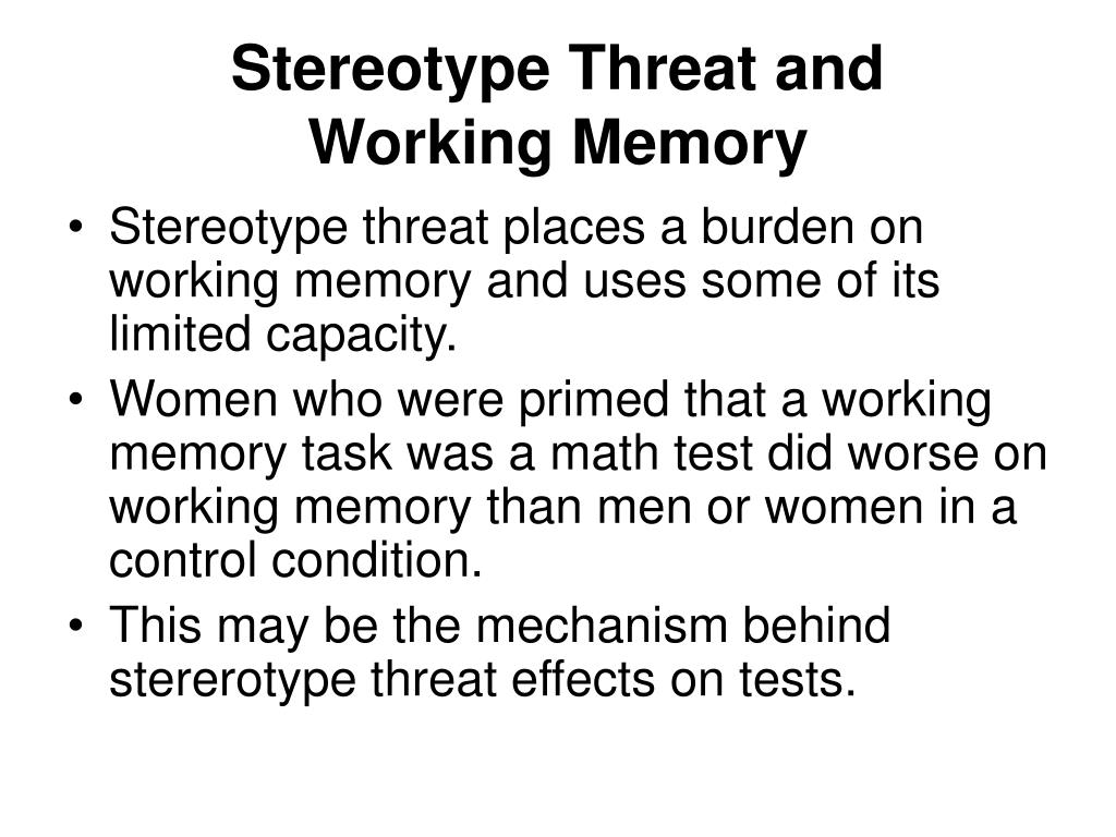 Stereotype Threat and