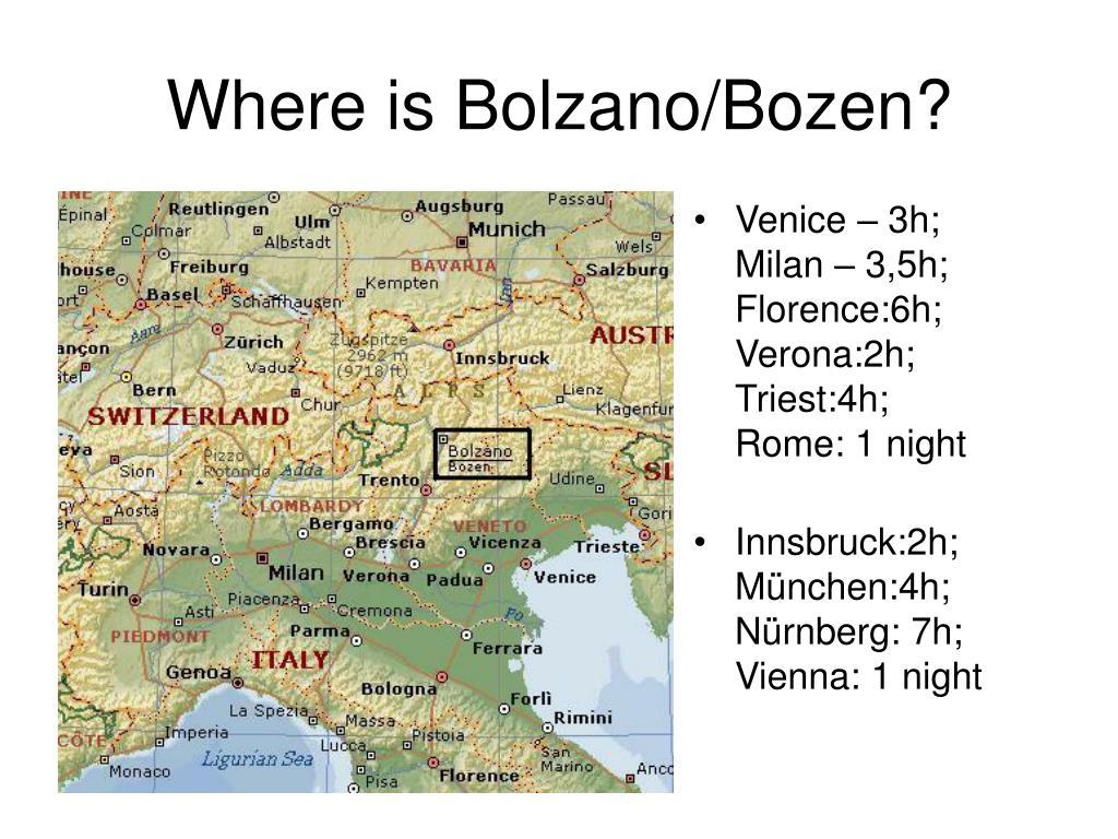 Where is Bolzano/Bozen?