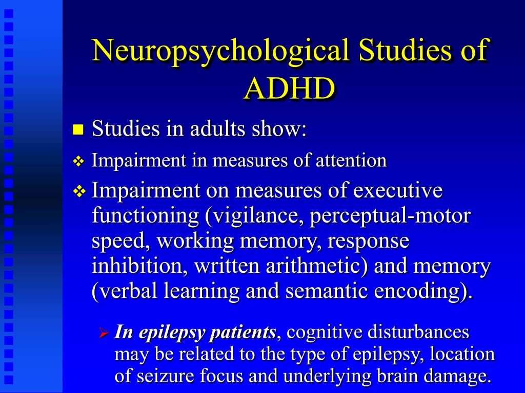 methods of neuropsychological studies Methods: we summarized neuropsychological development assessment  protocols from a number of birth cohort studies, reviews and specific.