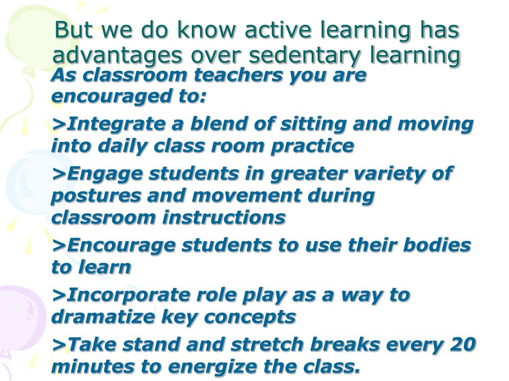As classroom teachers you are encouraged to: