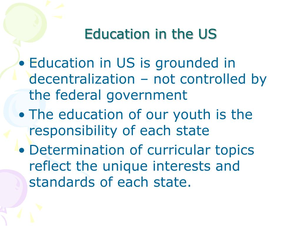 Education in the US